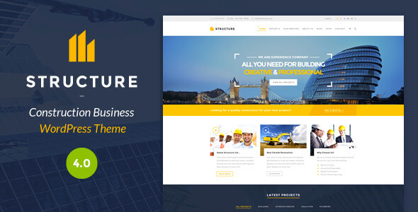 Structure-Construction-WordPress-Theme