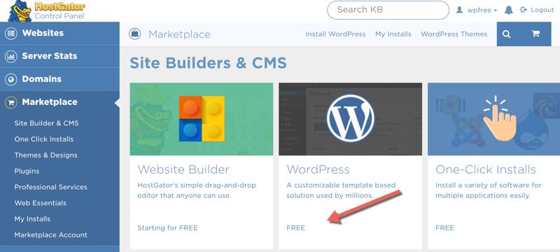 One-click-WordPress-installation-on-HostGator