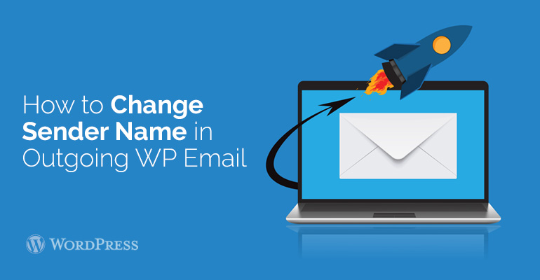 change wordpress email send from settings