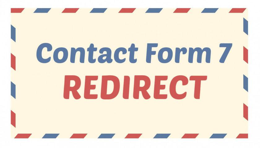 contactform 7 redirect