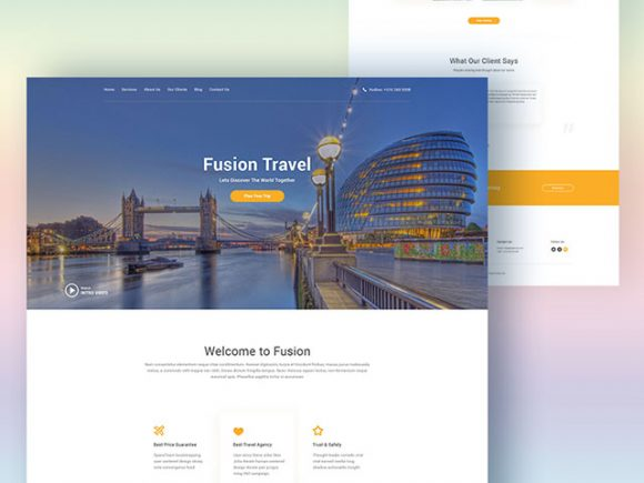 fusion-travel-agency-psd-tepmplate-580x435