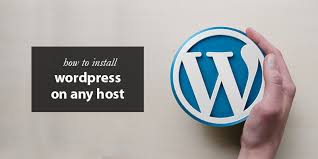 manually install wordpress