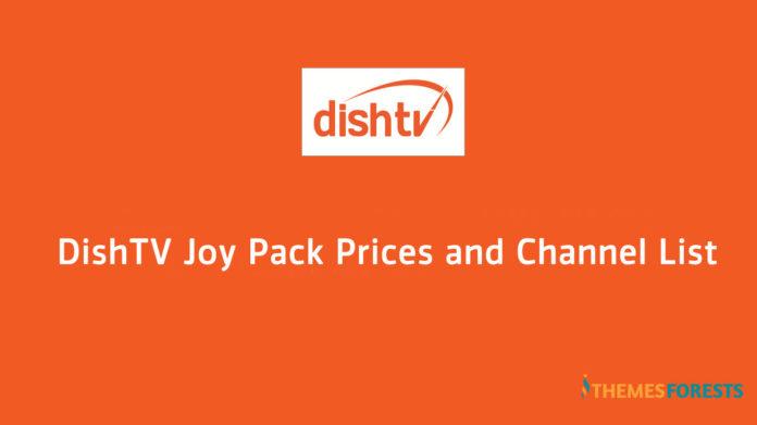 Dishtv Joy Pack channels