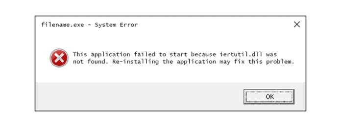Fix IertUtil DLL Errors
