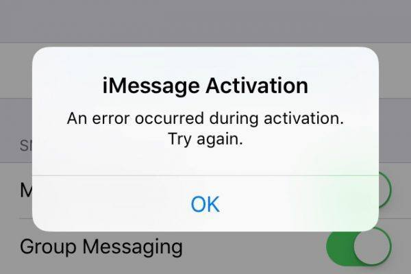 Fix iMessage and FaceTime Activation Error on iPhone