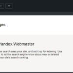 Yandex submit url