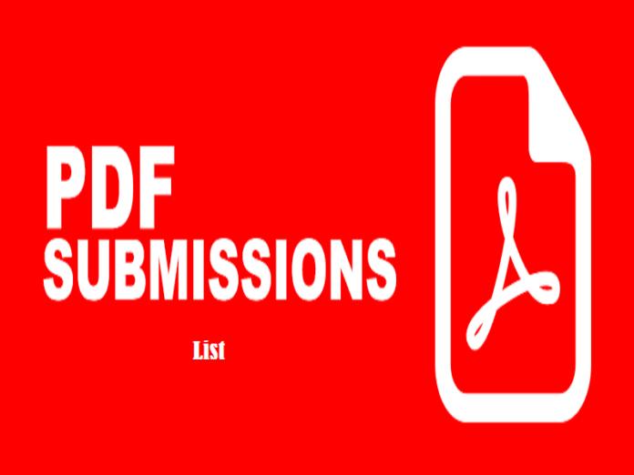 pdf submission sites list 2018