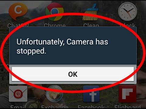unfortunately camera has stopped