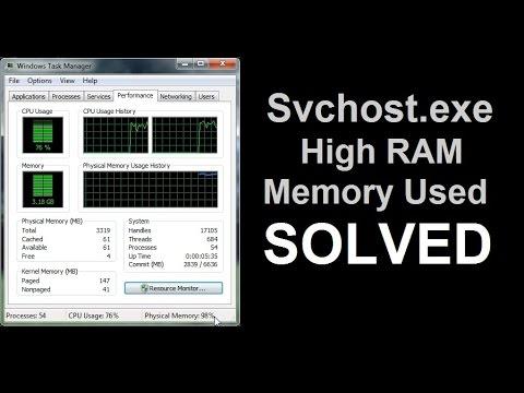 high ram usage windows 7