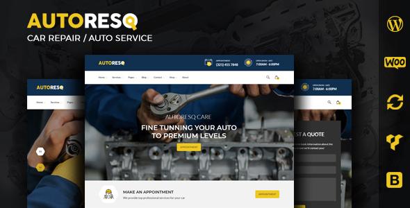Autoresq Car Repair WordPress Theme v2.1.3 Nulled