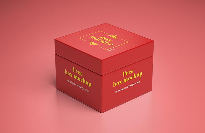 Gift box Mockups Design