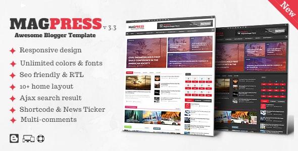 Magpress v3.3 blogger template