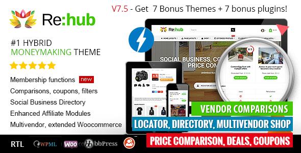 REHub - Price Comparison, Affiliate Marketing, Multi Vendor Store, Community Theme v9.5.4