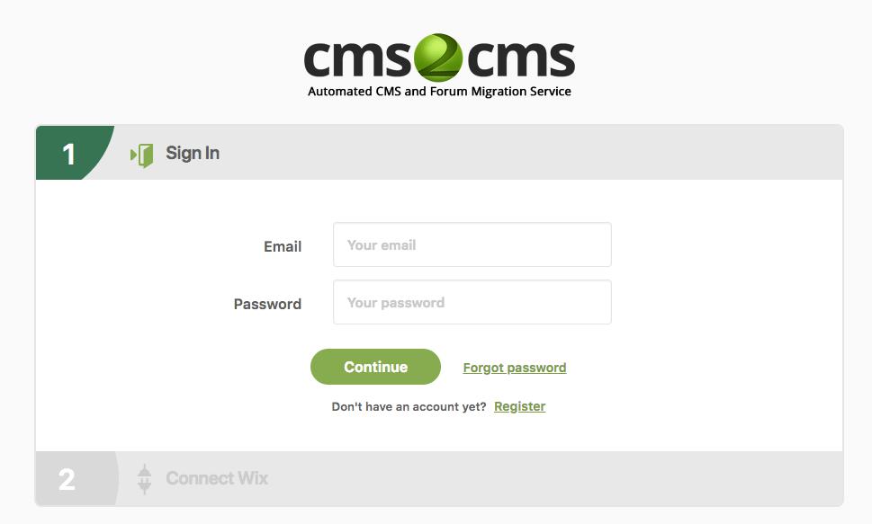 transfer from wix to wordpress using cms2cms plugin