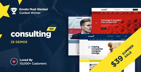 Consulting Business, Finance WordPress Theme (NULLED + SERIAL) v4.6.9.2