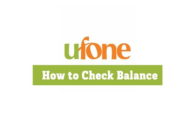 How To Check Ufone Balance