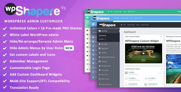WPShapere Wordpress Admin Theme v6.1.0 Nulled