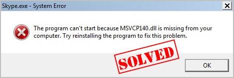 msvcp140 error fix