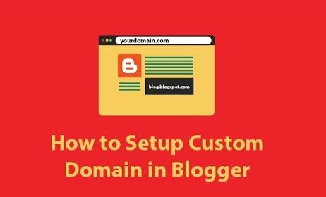 setup custom domain for blogger