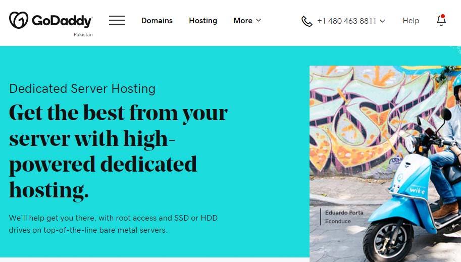 Godaddy Dedicated hosting server