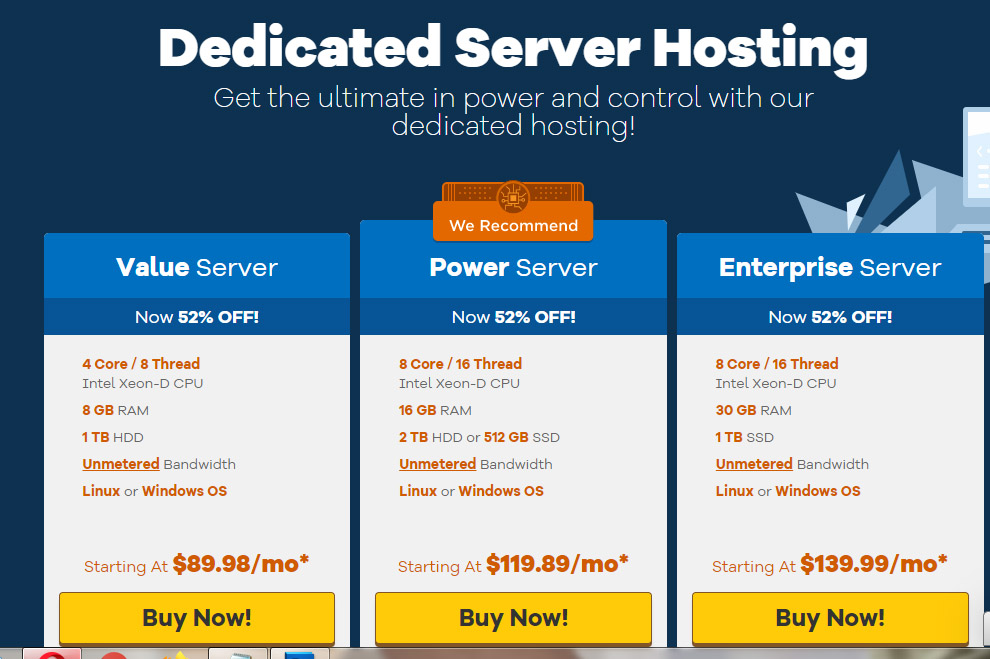 Hostgator dedicated hosting compared