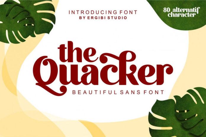 Quacker Sans Serif Font download