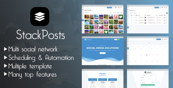 Stackposts Social Marketing Tool v7.0.3 Nulled + Paid Modules