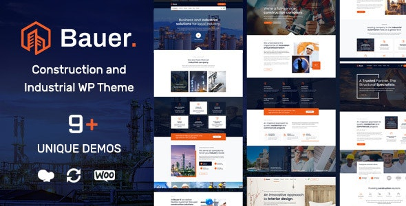 Bauer Construction and Industrial WordPress Theme v1.11
