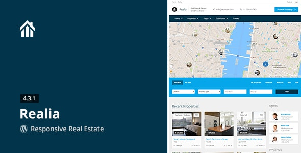 Realia Responsive Real Estate WordPress Theme