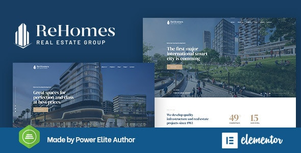Rehomes Real Estate Group WordPress Theme