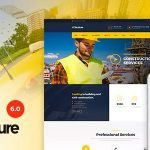 Structure Construction Industrial Factory WordPress Theme