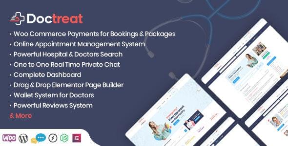 Doctreat Doctors Directory WordPress Theme v1.4.0